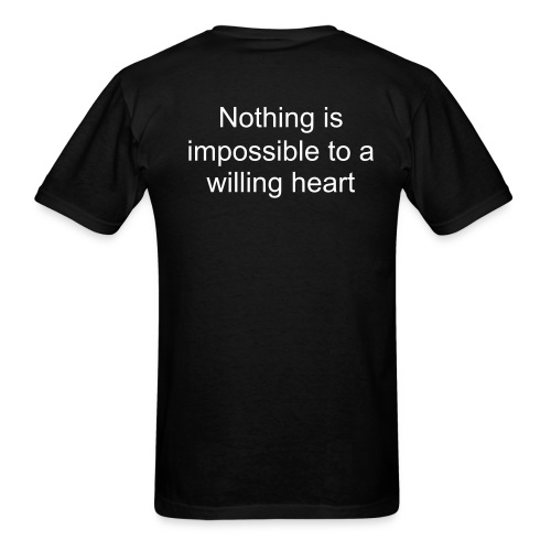 Catch42 - Nothing is impossible to a willing heart - Men's T-Shirt