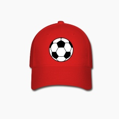 Red Soccer Ball 2C Caps