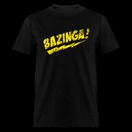 T-Shirts ~ Men's T-Shirt ~ Vintage BAZINGA T-Shirt Sheldon Cooper T-Shirt