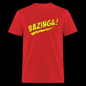 Vintage BAZINGA T-Shirt Sheldon Cooper T-Shirt ~ 351