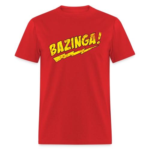 Vintage BAZINGA T-Shirt Sheldon Cooper T-Shirt - Men's T-Shirt