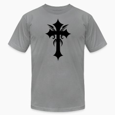 Slate embellished funky cool gothic cross T-Shirts