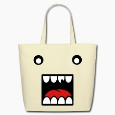 Creme monsterface Bags