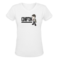 T-Shirts ~ Women's V-Neck T-Shirt ~ Compton - Women's V-neck