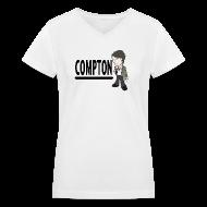Women's T-Shirts ~ Women's V-Neck T-Shirt ~ Compton - Women's V-neck