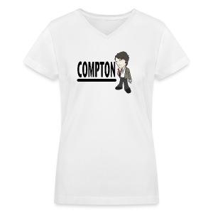 Compton - Women's V-neck - Women's V-Neck T-Shirt