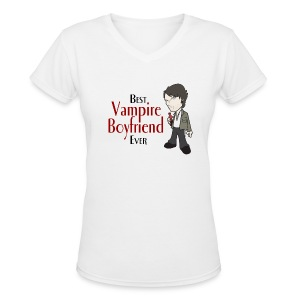 Vampire Boyfriend - Woman's V-neck - Women's V-Neck T-Shirt