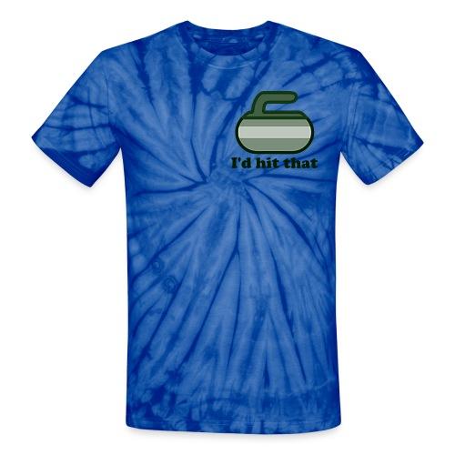I'd hit that tee - Unisex Tie Dye T-Shirt