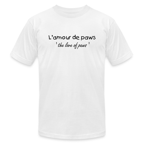 ' the love of paws ' - Men's Fine Jersey T-Shirt