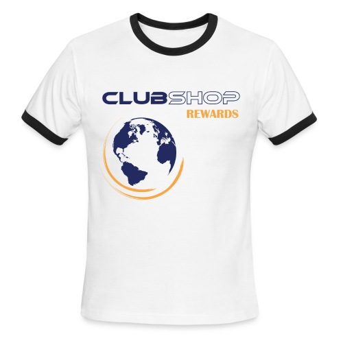 White/Blue ClubShop Rewards Men's Ringer T-Shirt - Men's Ringer T-Shirt