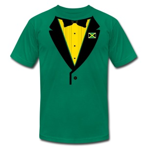 Jamaican Tuxedo - on American Apparel - Men's Fine Jersey T-Shirt