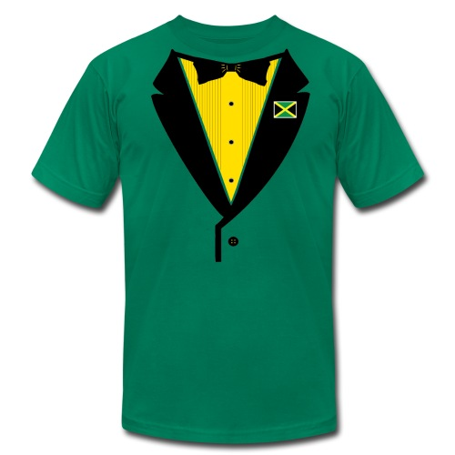 Jamaican Tuxedo - on American Apparel - Men's Fine Jersey T-Shirt