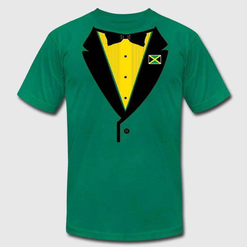 Jamaican tuxedo t shirt spreadshirt for Make your own tuxedo t shirt