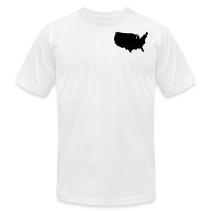 usa map/men's AA tshirt - Men's Fine Jersey T-Shirt