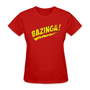 BAZINGA Women's T-Shirt Sheldon T-Shirt - Women's T-Shirt