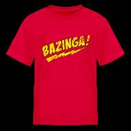 Kids' Shirts ~ Kids' T-Shirt ~ Vintage BAZINGA Kid Size T-Shirt Sheldon Cooper T-Shirt