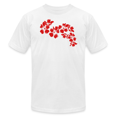 White flower T-Shirts