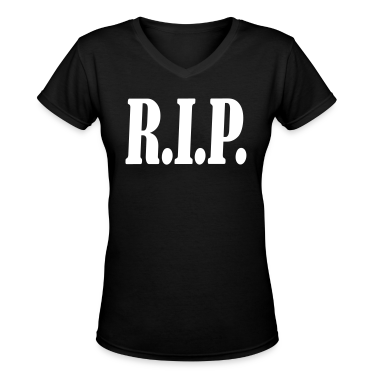 Black RIP R.I.P. rest in peace Women's T-Shirts