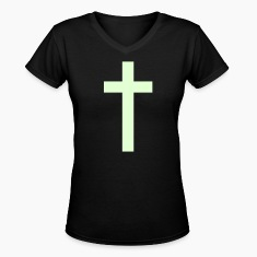 Black a simple cross Women's T-Shirts