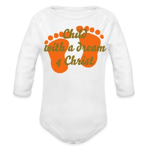 Mothers With a Dream 4 Christ - Organic Long Sleeve Baby Bodysuit