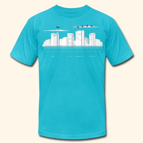 pixelSkyline - Men's Fine Jersey T-Shirt