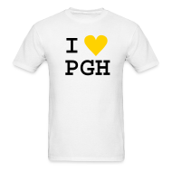T-Shirts ~ Men's T-Shirt ~ White (or you choose the shirt color) Black Text w/Gold Heart