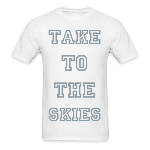 take to the skies tee (silver) - Men's T-Shirt