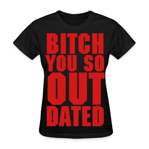 Womens Outdated Tee - Black/Red - Women's T-Shirt
