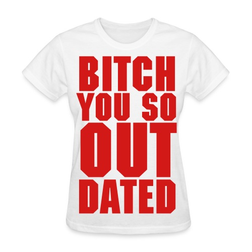 Womens Outdated Tee - White/Red - Women's T-Shirt