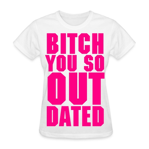 Womens Outdated Tee - White/Pink - Women's T-Shirt
