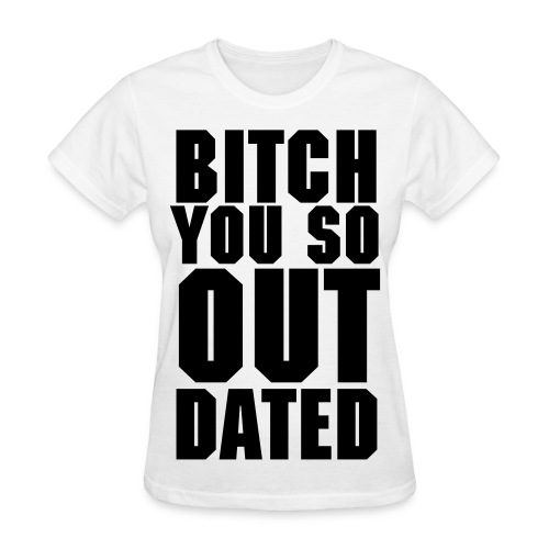 Womens Outdated Tee - White/Black - Women's T-Shirt