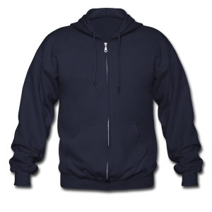 Just Me no design - Men's Zip Hoodie