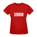 Red 1968 Women's T-Shirts