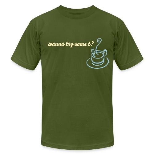 wanna try some t? - Men's  Jersey T-Shirt