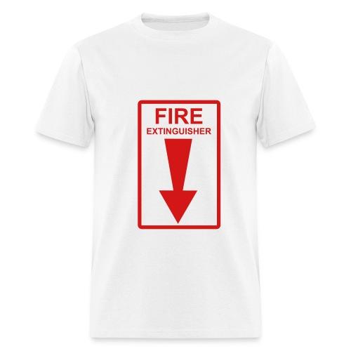 Fire Extinguisher (white) - Men's T-Shirt
