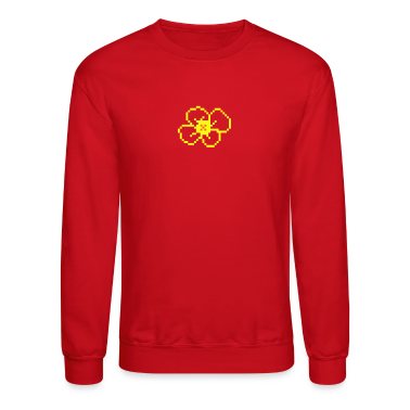 Red pixel flower (blossom, 2c) Long Sleeve Shirts