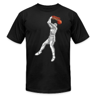 T-Shirts ~ Men's T-Shirt by American Apparel ~ Exciting Basket - Double Dribble