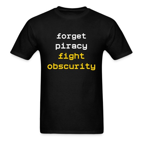 fight obscurity - Men's T-Shirt