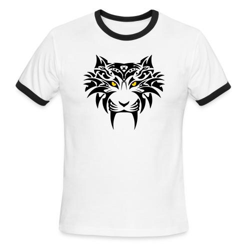 Tribal Tiger T-Shirt Tee Shirt - Men's Ringer T-Shirt