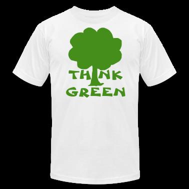 White think green T-Shirts