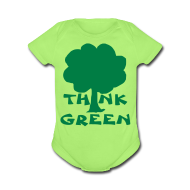 Baby Bodysuits ~ Baby Short Sleeve One Piece ~ Think Green Tee