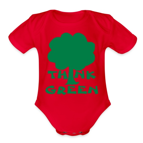 Think Green Tee - Organic Short Sleeve Baby Bodysuit