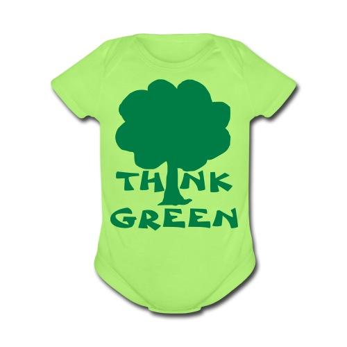Think Green Tee - Organic Short Sleeve Baby Bodysuit