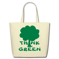 Bags & backpacks ~ Eco-Friendly Cotton Tote ~ Think Green