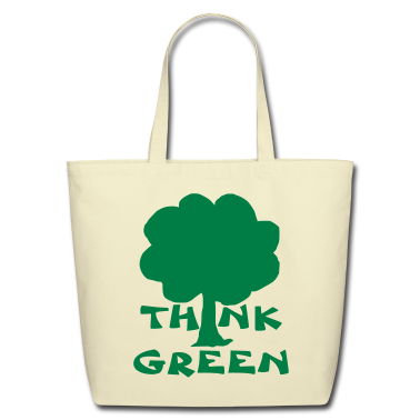 Creme think green Bags