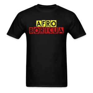 Men's Afro-Boricua (Black) - Men's T-Shirt