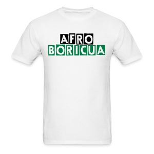 Men's Afro-Boricua (White) - Men's T-Shirt