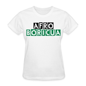 Women's Afro-Boricua (White) - Women's T-Shirt