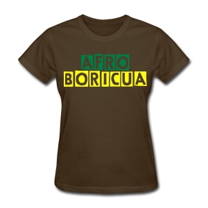 Women's Afro-Boricua (Brown) - Women's T-Shirt