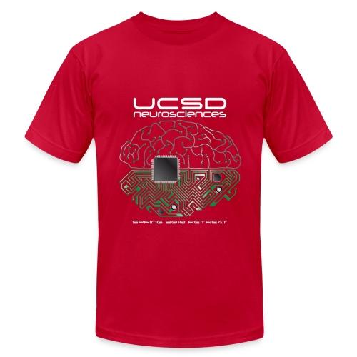 2010 UCSD Neurosciences Retreat (Men's with white font) - Men's Fine Jersey T-Shirt